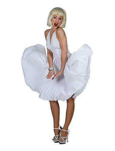 Marilyn Kostüm Kleid Damen 40/42 Weiß Filmstar Diva Showstar Sängerin Show Party