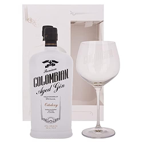 Dictador Ortodoxy Colombian Aged White Gin 43% Vol. 0,7 l + GB mit Glas