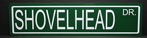 Yilooom Shovelhead Drive Metal Street Sign Harley Chopper Motorcycle Engine Sturgis