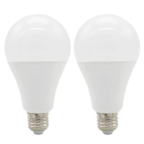 Maxbayou 2 bombillas LED E27 de ahorro de energía, 18 W, equivalente...