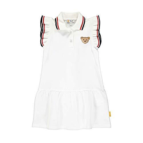 Steiff Mädchen Kleid, Weiß (Bright White 1000), (Herstellergröße: 116)
