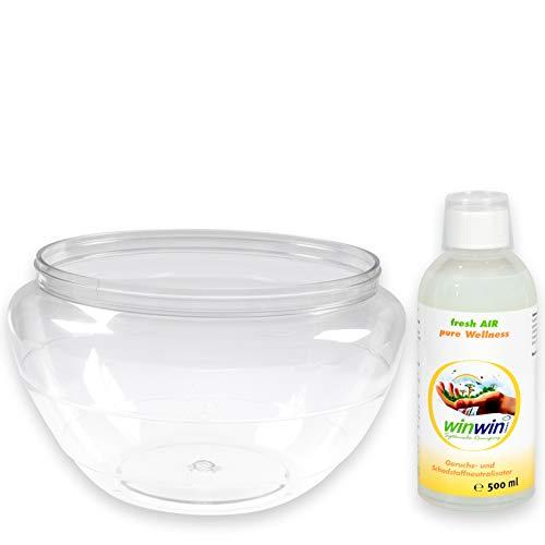- Wasserbehälter geeignet für AIR BLOW und proWIN AIR BOWL 2 I inklusive WUNSCH - Luftreinigungs-Konzentrat fresh AIR 500ml (Wasserbehälter + fresh AIR Wellness 500ml)