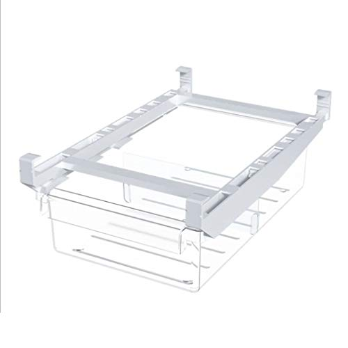 SSKIE Multifunction Refrigerator Drawer Organizer Stackable Clear Plastic with handle Pantry Food Storage Rack Retractable Drawer Fit for Freezer Cabinet Fridge Kitchen Pantry Organization and Storage