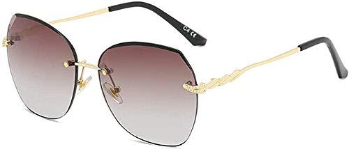 Sol espejo mujer INS gradiente gafas de sol marco de metal redondo cara sombrilla