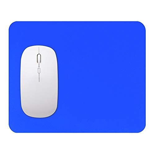 Fjiujin,Amortiguador Antideslizante limpiable del ratón del Ordenador de la Moda Creativa limpiable del silicón para el Escritorio casero(Color:Azul Claro)