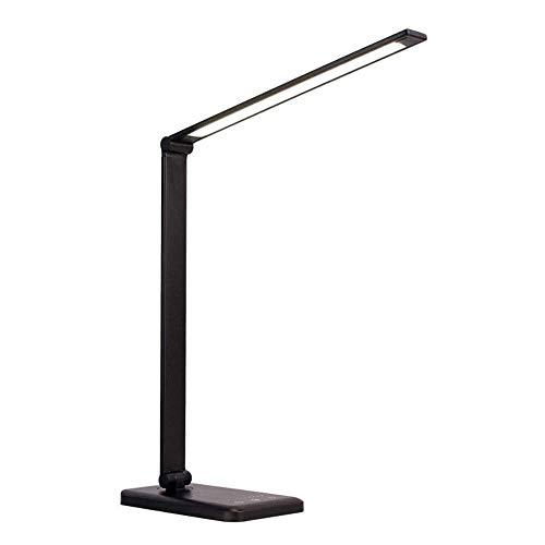 QXinjinxtd Lámparas para habitaciones Escritorio LED lámpara inalámbrica de carga for Qi, regulable plegable lámpara de mesa - puerto de carga USB, recargable, 3 temperaturas de color, Ojo-cuidado lám