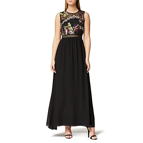 Marchio Amazon - TRUTH & FABLE Maxi Dress di Pizzo Donna, Multicolore (Multicoloured), 52, Label: 3XL