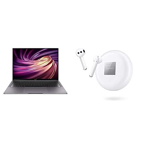 HUAWEI MateBook X Pro 14インチ Core i7 スペースグレー+ノイズキャンセリング完全ワイヤレスイヤホン FREEBUDS 3/セラミックホワイト