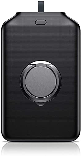 SUYING Banco de energía portátil magnético 4000 mAh, cargador externo de carga rápida inalámbrico Qi, compatible con iPhone 11 12 Pro Max (negro)