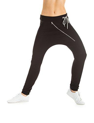 Winshape WH4 Pantalon à Fermeture à glissière pour Dame ou Unisexe pour Loisirs et Danse XS Noir - Noir