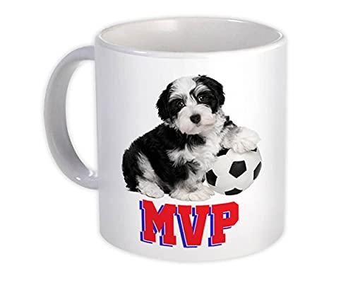 Balón de fútbol Lhasa MVP : Taza de Regalo : Perro Cachorro Mascota Jugador de fútbol Animal Lindo