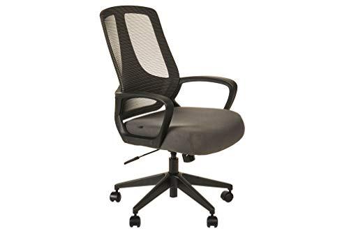 Alera MB Series Mesh Mid-Back Office Chair, Gray/Black