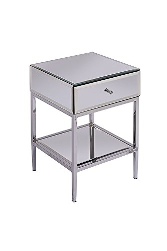 MY-Furniture - Stiletto Toughened Mirror Side Table