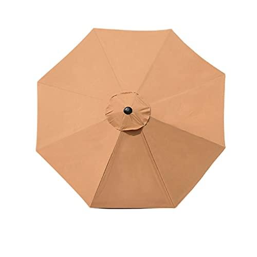 æ— Ombrello di ricambio per patio da 3 m, con 8 costole con pulsante a pressione, per giardino, piscina, ombrellone sostituito (solo baldacchino)