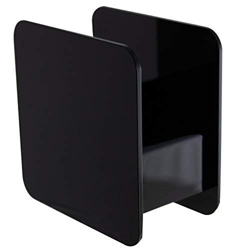 MeinTablett Bierdeckelhalter für quadratische und runde Bierdeckel - 2 Stück (Schwarz)