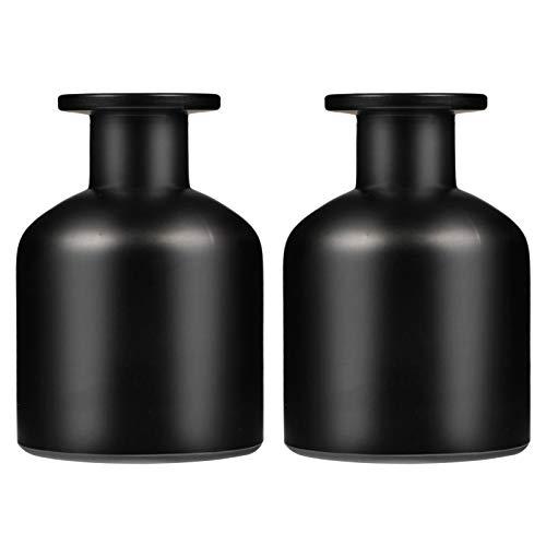 EXCEART 2 Stück Glasdiffusorflaschen Ätherische Öl Duft Reed Halter runde Glas Aromatherapie Behälter Leer Vase Diffuser Aroma Duft Zubehör für DIY Ersatz Reed Diffusor Sticks 150ml