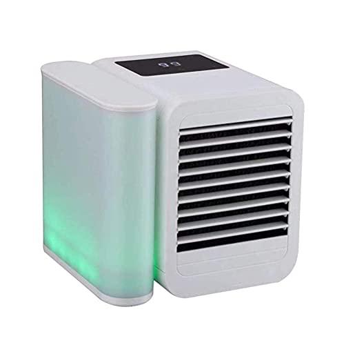Apartamento de aire acondicionado, sin ventilador de mangueras de escape / refrigerador de aire de mesa portátil, espacio personal USB Mini acondicionador ventilador con sincronización, refrigerador d