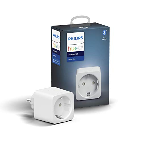 Philips Hue Smart Plug Socket, with Bluetooth, Compatible with Alexa and Google Home