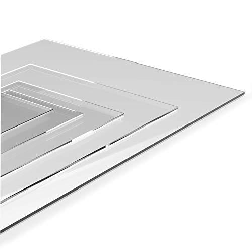Hoja de plástico transparente de 3 mm, material PETg, cortado a medida (610 x 457 mm)