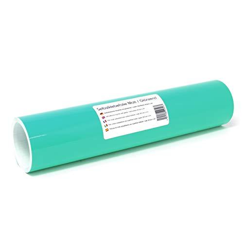 Finest Folia (12,89€/m² Selbstklebende Plotterfolie Bastelfolie 31cm x 3m 105 Farben Matt/Glänzend Möbelfolie Folie Bastelfolie zum Plotten (054 Türkis, Glanz)