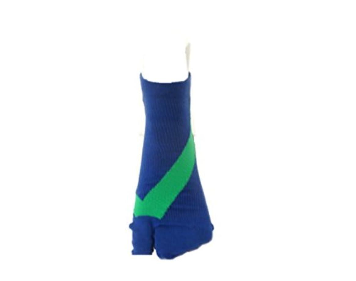 中断コジオスコ利得さとう式 フレクサーソックス アンクル 紺緑 (L) 足袋型