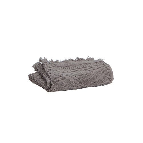 Vivaraise - Drap de Bain Zoé – 100x180 cm – Serviette de Plage, Spa, Piscine, hammam – Liteau Grande Taille – Tissu éponge Absorbant – 100% Coton – Motif Jacquard