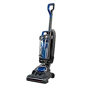 Russell Hobbs RHUV5101 ATHENA2 Upright Vacuum in Grey and Blue – Swivel Floorhead – 9 m Cleaning Radius – 2 Year Guarantee