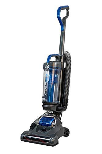Russell Hobbs RHUV5101 ATHENA2 Upright Vacuum in Grey and Blue - Swivel Floorhead - 9 m Cleaning Radius - 2 Year Guarantee