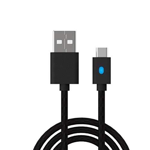 Mumaya Cargador del Controlador PS5, Cables de Carga del Cargador USB rápido, con luz indicadora Cable de Carga USB de Alambre Trenzado de 3 Metros Compatible con el Controlador PS5