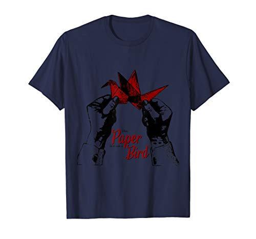 Cooles Origami Shirt - Papiervogel T-Shirt