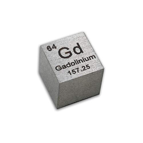 Cubos De Metal Gadolinio Metal Cubo De Densidad De 10mm 99,9% Tabla Periódica Grabada Pura para Colecciones Regalos
