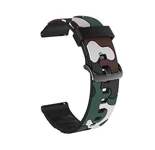 LLMXFC Reloj de Silicona Colorido para Huawei Honor Magic Watch 2 46mm 42mm Correa 20 / 22mm Pulsera del Deporte para Huawei Honor Magic Belt para Samsung Galaxy Watch Active2 40mm 44mm