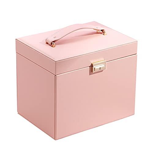 SHJKL Caja De Almacenamiento De Caja De Joyería para Mujer, Cajas De Joyería De 4 Capas, Sostenedor De Exhibición De Joyas De Cuero De PU, Collar De Reloj Anillo De Anillo Organizador
