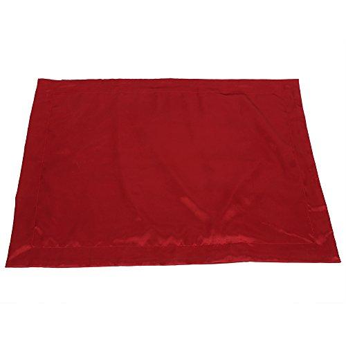 Gmkjh Funda de Almohada Funda de Almohada, 48 * 74cm Funda de Almohada Suave de satén Sedoso de Verano Funda de Almohada cómoda Protector sólido Suave(Rojo)