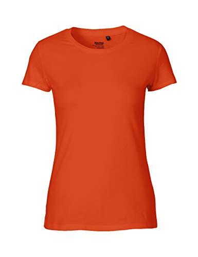 Green Cat Ladies Classic Camiseta 100% algodón orgánico, comercio justo, certificado Oeko-Tex y Ecolabel naranja M