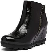 Sorel Women's Joan of Arctic Wedge II Zip Boot - Light Rain - Waterproof - Black - Size 9