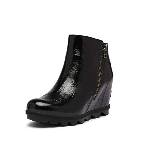Sorel Women's Joan of Arctic Wedge II Zip Boot - Light Rain - Waterproof - Black - Size 8