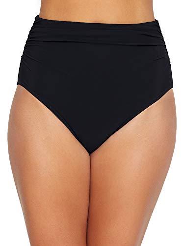 Profile by Gottex Women's Ruched Super High Waist Swimsuit Bottom, Tutti Frutti Black, 8