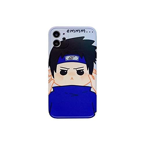 YAOCHUANG Funda Protectora de Naruto TPU, protección Suave y Delgada, rodeada, Caja de teléfono móvil Anti-otoño para iPhone XR-Caja del teléfono1_12mini