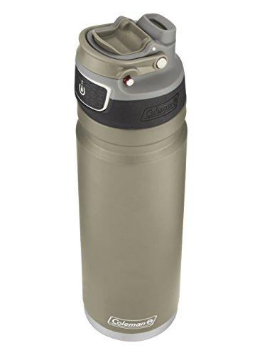 Coleman FreeFlow Autoseal Water Bottle 24oz Sandstone Tan Stainless Steel Sport