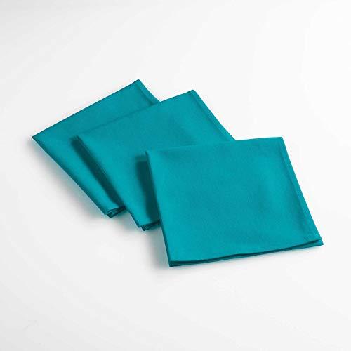 douceur d'intérieur 3 serviettes de table 40x40 cm aubeline bleu