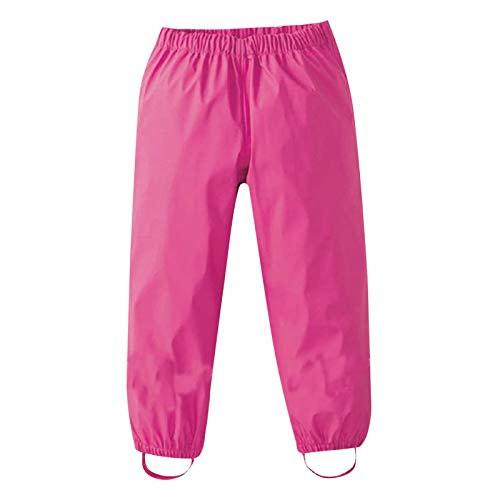 DXHH Pantalons de Boue Respirants et imperméables à l'eau pour Filles Pantalons d'extérieur pour garçons Unisexe Salopettes de Pluie pour Enfants Unisexes à Pois, Pantalons Coupe-Vent et imperméables