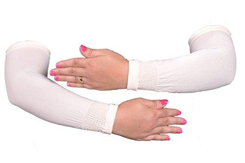 Egypt Bazar Elegante Armstulpen Hijab - Islamische Gebetskleidung (Weiß)