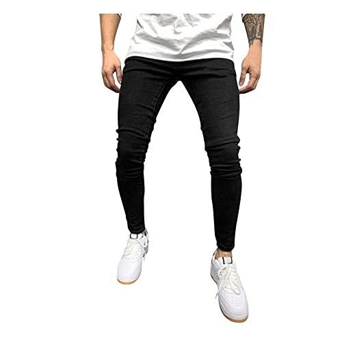MEIYIKELO Jeans Herren, Jeans Herren Slim fit Stretch Jeans Regular Fit Straight Leg Denim Modern Männer Jungen Hose Cut Basic Washed Herren Skinny Jeans Herren Jeans Schwarz