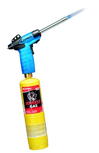Decapeur Térmico – Soplete de soldadura – Soplete Oxygene – Lámpara de soldar – Soplete profesional Vulcane Express Lanance Ø 22 para sanitarios, aire acondicionado y calefacción + cartucho de gas