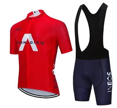 Checkless Completi Ciclismo Squadre, Completo Ciclismo Uomo - Abbigliamento Ciclismo Uomo con 12D Imbottitura in Gel - Maglia Ciclismo Uomo, Pantaloni Ciclismo Uomo, Completo Ciclismo Uomo Estivo.