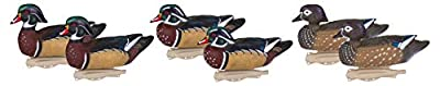 Flambeau Outdoors 8018SUV Storm Front 2 Wood Duck Decoys, Classic Floaters - 6-Pack