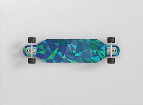 Skateboard Komplettboard ABEC-7 Kugellager 9-Lagigem Ahornholz Für Kinder Jungendliche Und Erwachsene.-Einfache Geometrie-80X20Cm