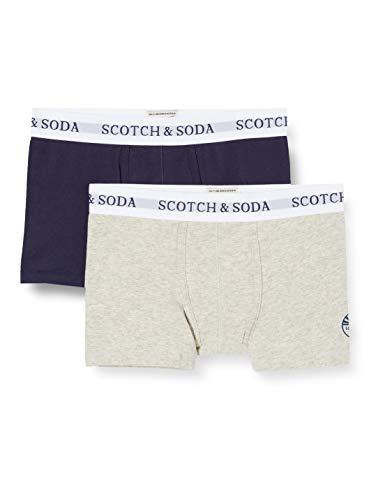 Scotch & Soda Shrunk Jungen 2er-Pack Boxershorts, Mehrfarbig (Combo B 0218), 128 (Herstellergröße:8)