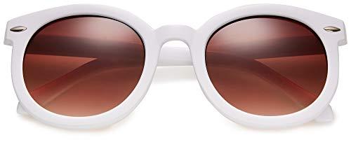 Round Oversized Retro Fashion Sunglasses for Women UV400 Trendy Big Circle Lens Vintage Designer Style Shades Glasses